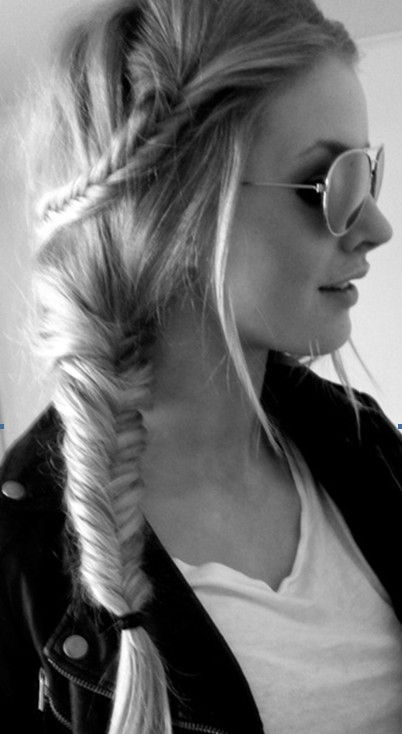 Cute, Fishtail Braided Hairstyles for Girls