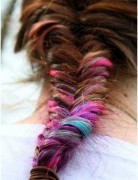 Cute Rainbow FishTail Braid, Long Braided Hairstyles