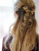 Easy Half Fishtail Braid, Braided Hairstyles Trends