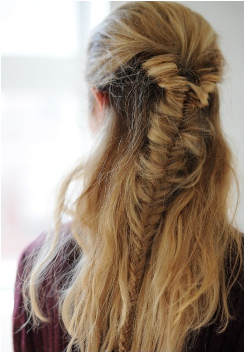 Groovy 20 Fishtail Braided Hairstyles Bun Ponytail Prom Messy Braid Hairstyle Inspiration Daily Dogsangcom