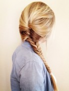 Fish Tail Braid for Straight, Long Hair