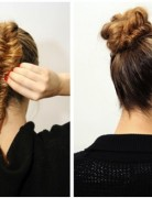Fishtail Braid to Bun Hairstyles for Prom