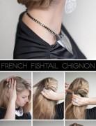 Fishtail Braided Chignon Hairstyles