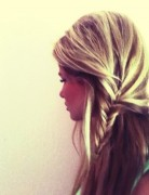 Half-up Side Fishtail Braid Hair Style