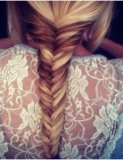 Lace Backs and Fish Tail Braids, Straight Hair