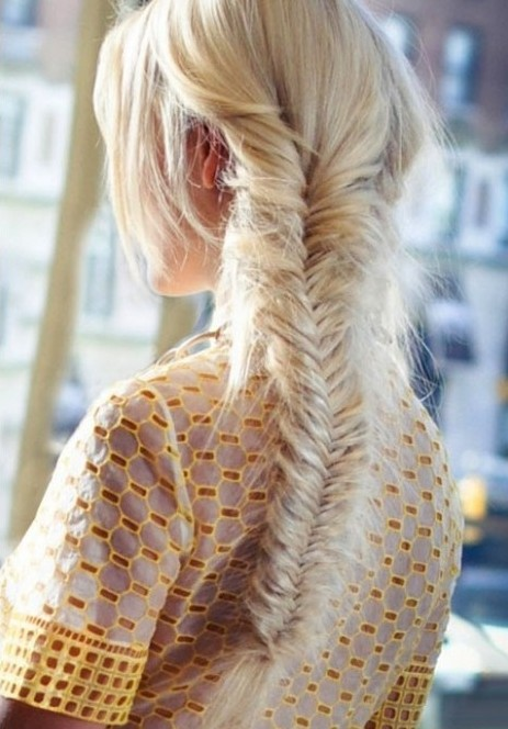 Long, Blonde Fishtail Braid