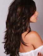 Long, Layered, Dark Warm Brown Hairstyles