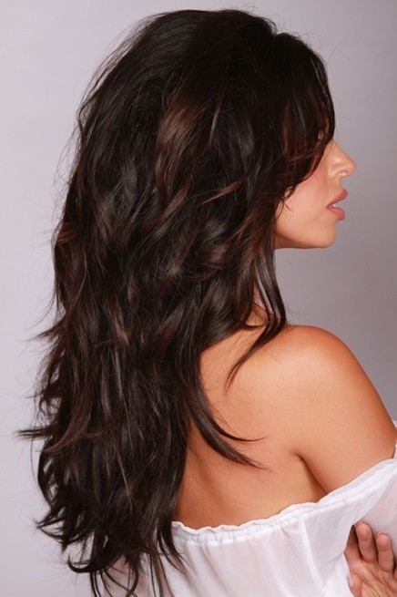 long layered dark warm brown hairstyles popular haircuts