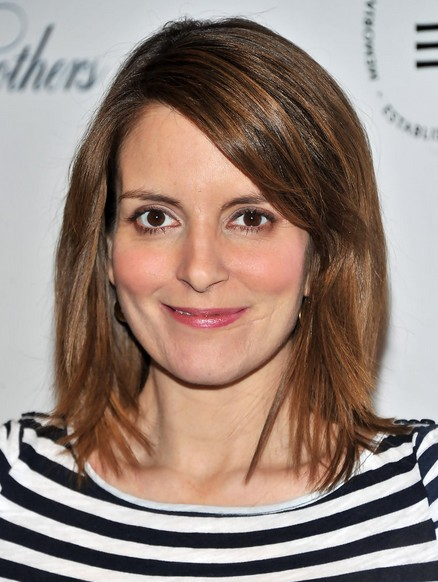 Medium Straight Hair Styles, Tina Fey Haircut