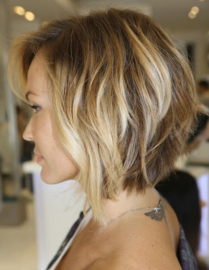 Neck-length Layered Bob