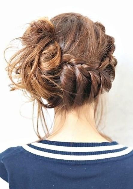 Sideswept Braid Updo Hair Styles