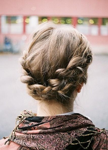 Simple Braid Updo - PoPular Haircuts