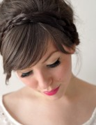 Simple and Cute Braid Updo Hairstyles