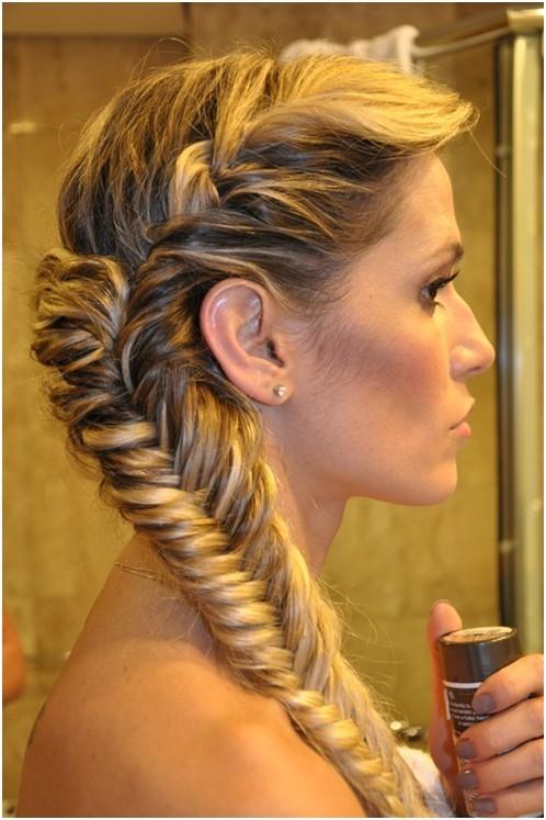 Astonishing 20 Fishtail Braided Hairstyles Bun Ponytail Prom Messy Braid Hairstyle Inspiration Daily Dogsangcom