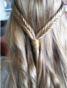 Two Fishtail Braids for Straight Hair
