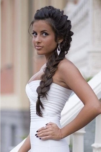 Side braided hairstyles for wedding prom popular haircuts