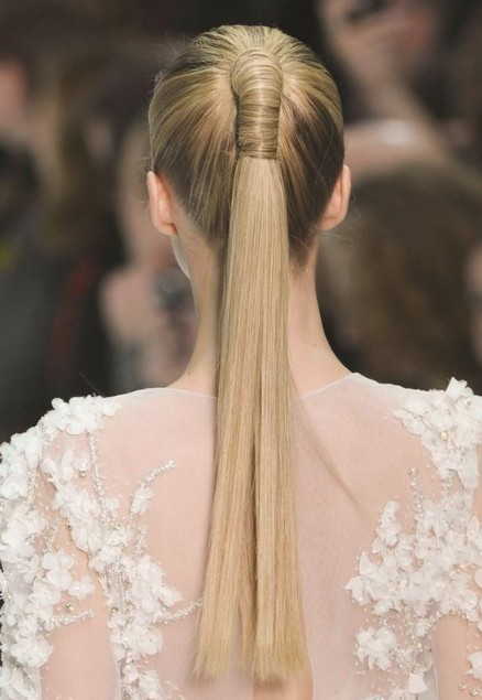 Wrapped Ponytail Hairstyles for Straight Hair