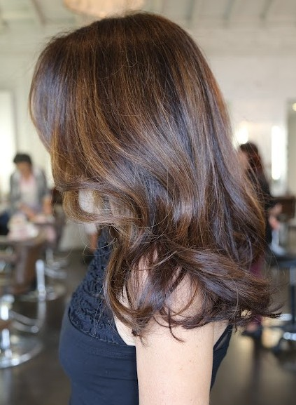 Picture of Brunette Hair Highlights/ pinterest