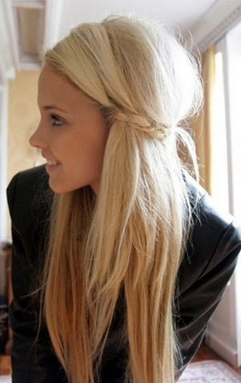 Cute Girls Hairstyles, Bride with Straight Long Hair