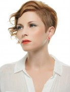 Short Haircut with Curly Hair, Classic Copper color