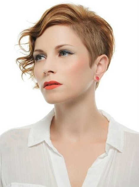 Short Haircut with Curly Hair: Classic Copper color - PoPular Haircuts
