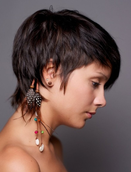 Straight Cropped Hairstyles, Very Short Haircuts for Women