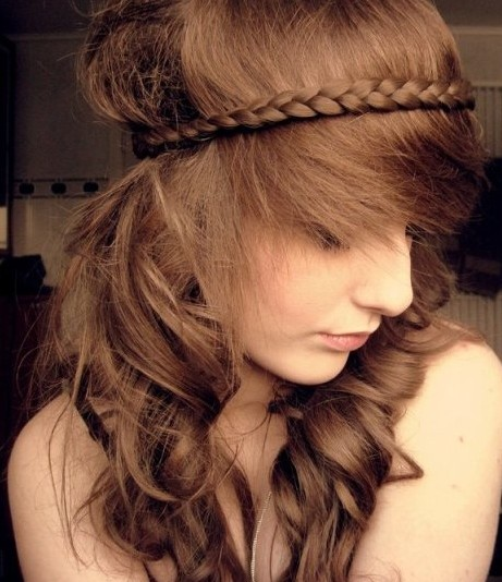 Picture of braided hairstyles for long wavy hair tumblr