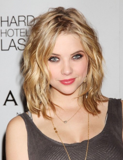 short to medium length hair style