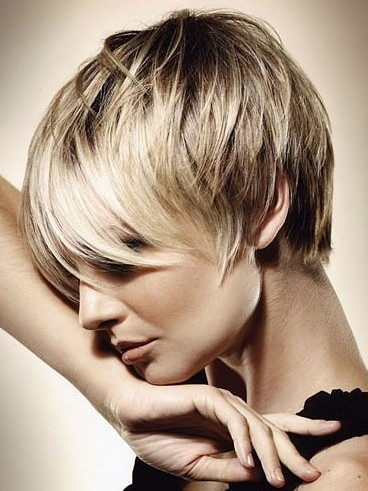 layered pixie haircut straight short hair  popular haircuts