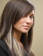 Long Straight Hairstyles, Peekaboo Hair Highlights