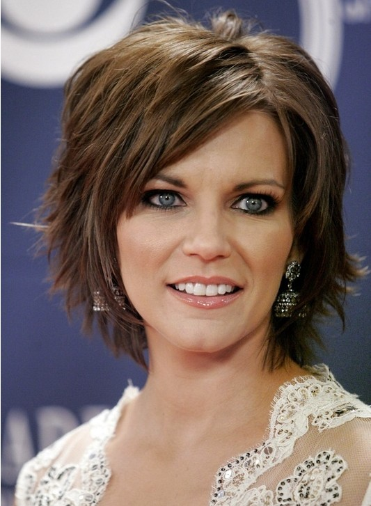Short Brown Hair With Side Bangs