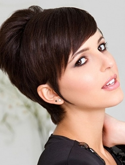 Short Pixie Haircut With Side Swept Bangs Popular Haircuts