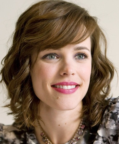 Wavy Hairstyles for Medium Hair with Bangs