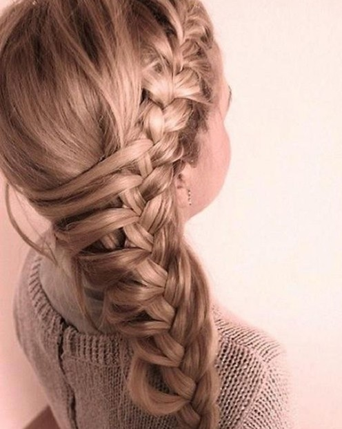Big, Side Braid Hairstyle