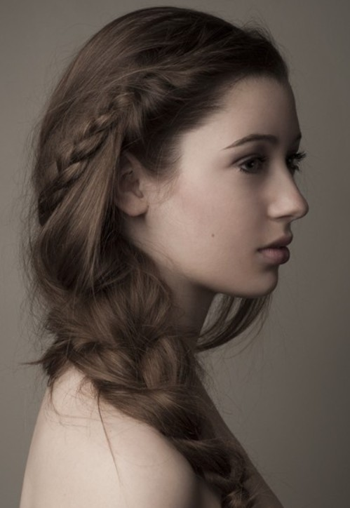 Lovely messy side braid
