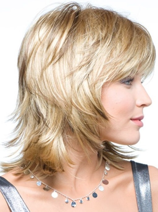 Medium Layered Hairstyle Straight Hair