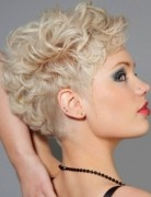 Short Curly Hairstyles for Women, Blonde Hair