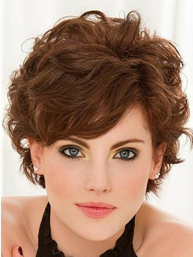 Short Curly Hairstyles Bangs Popular Haircuts