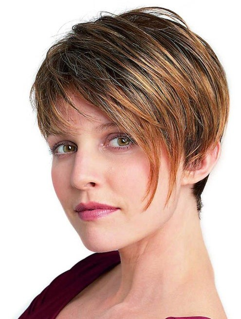 Women Short Hairstyles for Thick Straight Hair