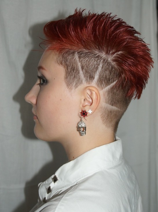 Short Red Hair Punk Hairstyles Popular Haircuts