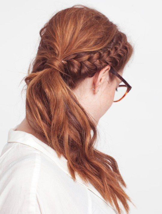 Side braid hairstyles for work
