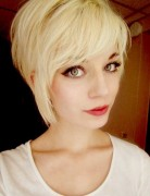 Trendy Short Hairstyle for Girls, Blonde Hair