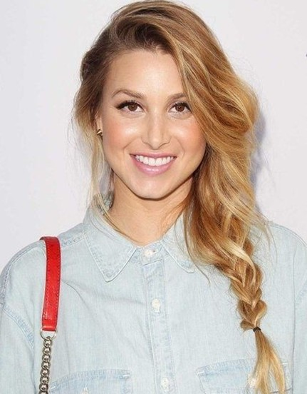 Whitney Port's side braided Hairstyle