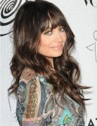 Long Brown Hairstyles with Bangs, Nicole Richie Hair