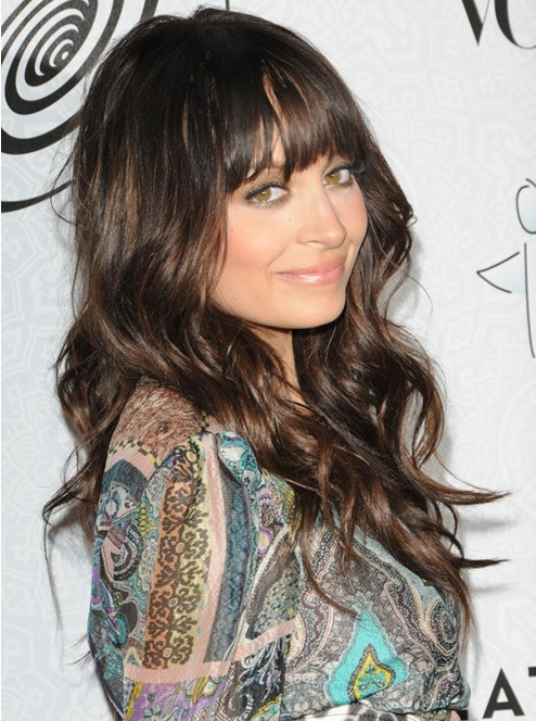Long Brown Hairstyles With Bangs Nicole Richie Hair