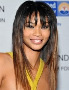 Long Hairstyles with Blunt Bangs, Chanel Iman Ombre Hair