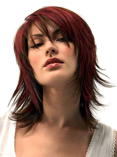 Picture of Medium Haircuts for Thick Hair: Red Hair Styles/ Pinterest