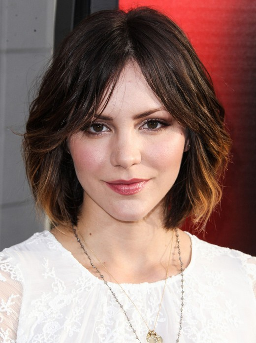 Cute Medium Short Hairstyles Katharine Mcphee Hair Popular Haircuts
