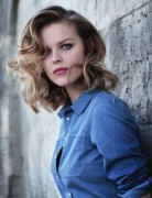 Mid-Length Curly Hairstyles, Eva Herzigova Hair