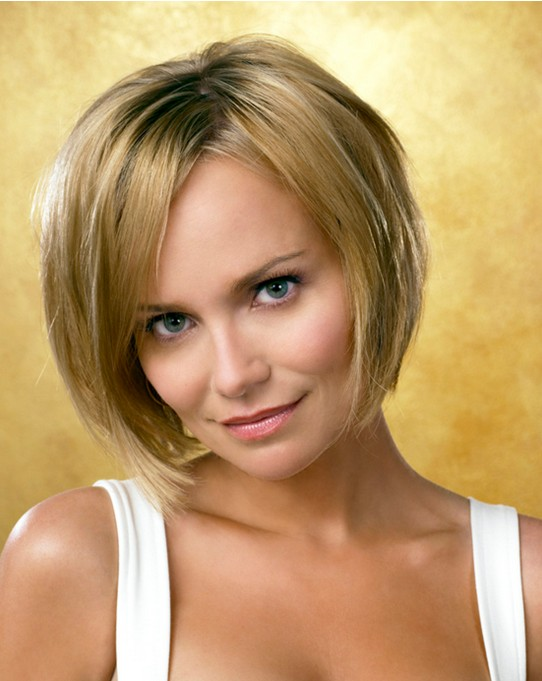 Short Bob Haircut for Straight Hair: Kristin Chenoweth Hairstyles ...
